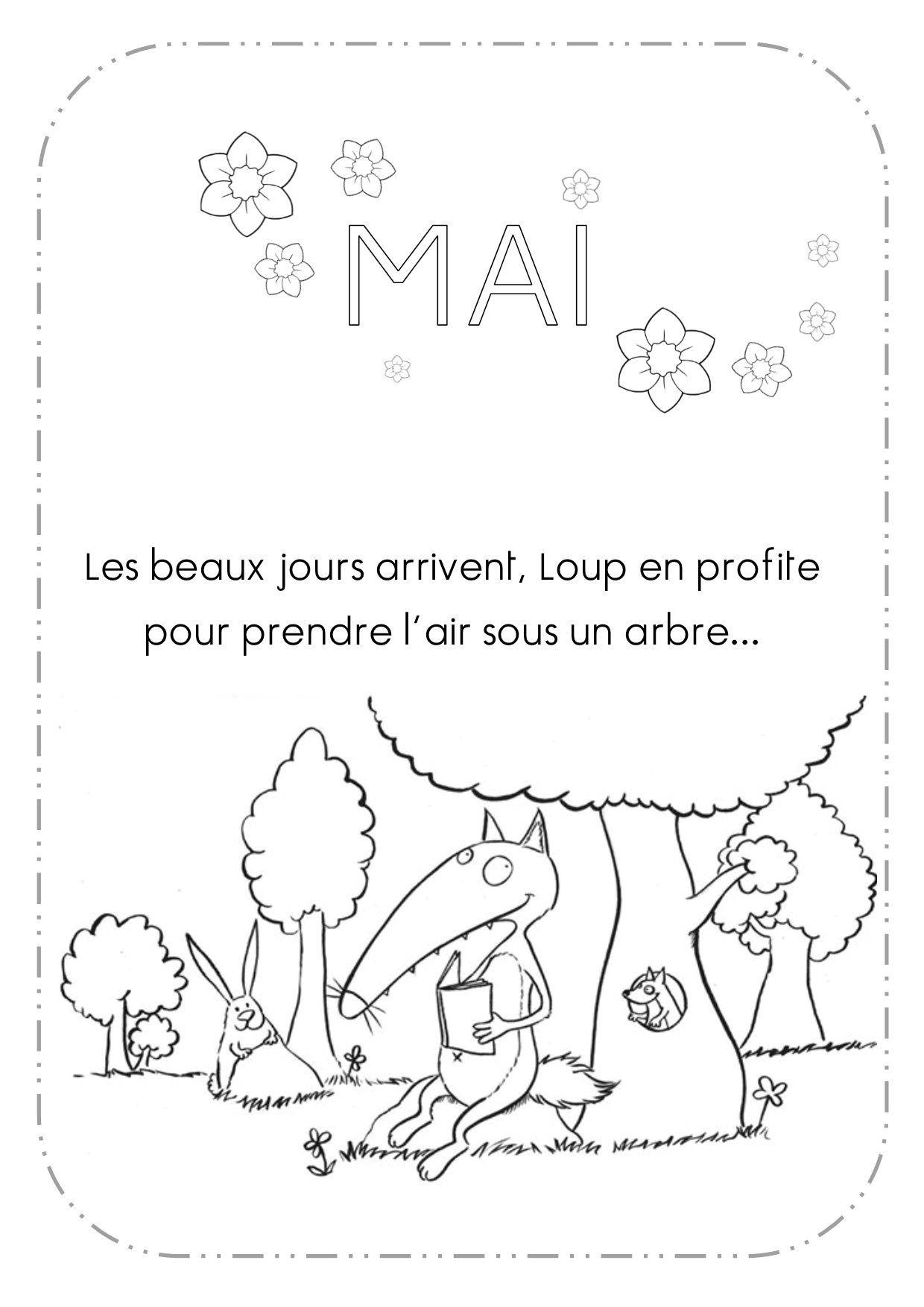 13 Moyen Coloriage Mois De Mai Collection   Loup, Petit tout Coloriage Loup Maternelle