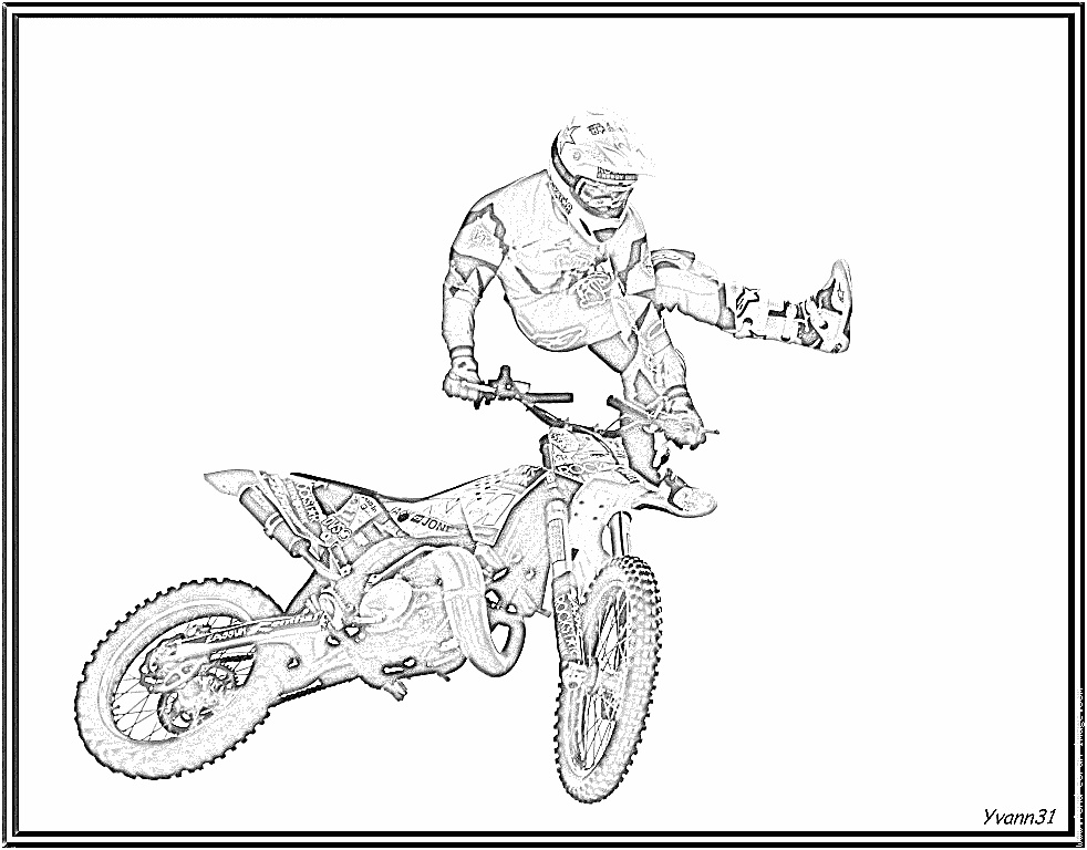 13 Plaisant Coloriage De Moto Cross Pics | Coloriage serapportantà Coloriage Moto Cross À Imprimer