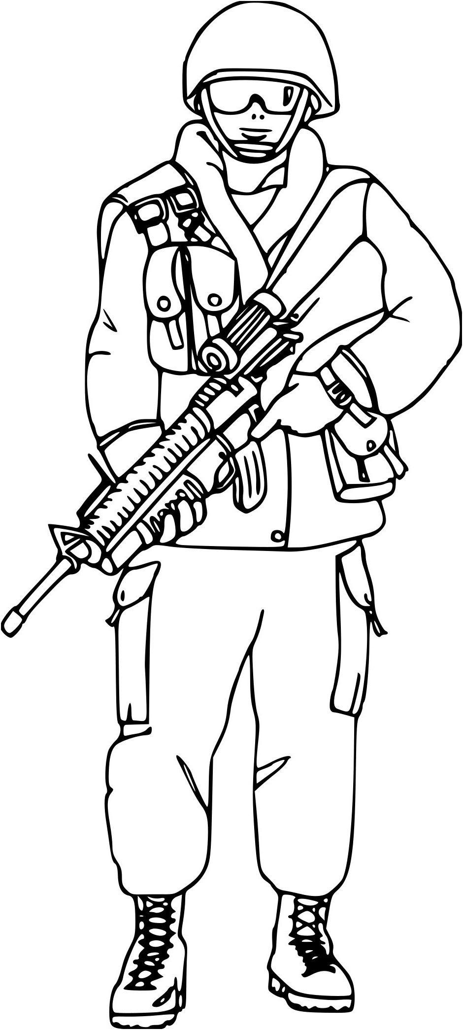 14 Aimable Coloriage Militaire Soldat Stock En 2020 tout Coloriage Soldat