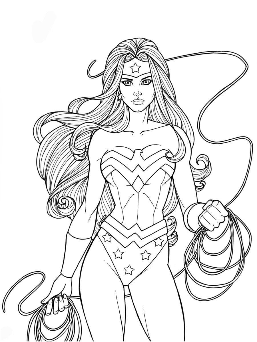 14 Amusant Coloriage De Wonder Woman Photos | Coloriage destiné Coloriage Wonder Woman A Imprimer