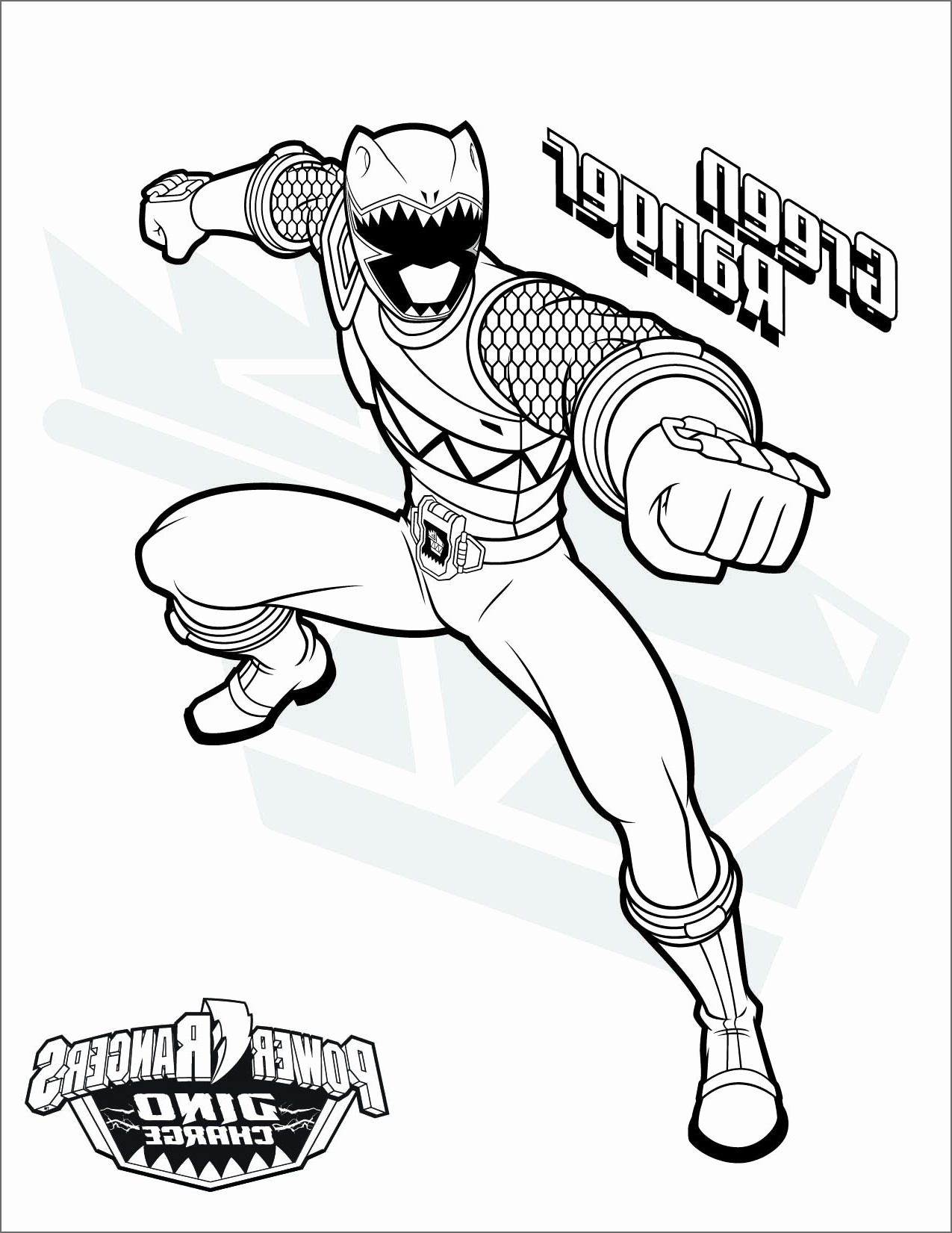 Coloriage Power Rangers A Imprimer - GreatestColoringBook.com