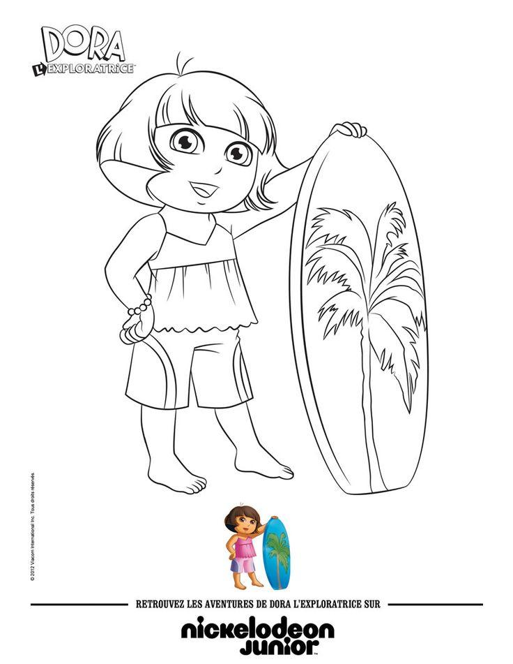 14 Best Coloriage Dora Images On Pinterest | Coloring destiné Coloriage Dora À Imprimer