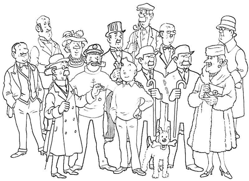 14 Remarquable Coloriage Tintin Collection - Coloriage avec Coloriage Tintin Et Milou