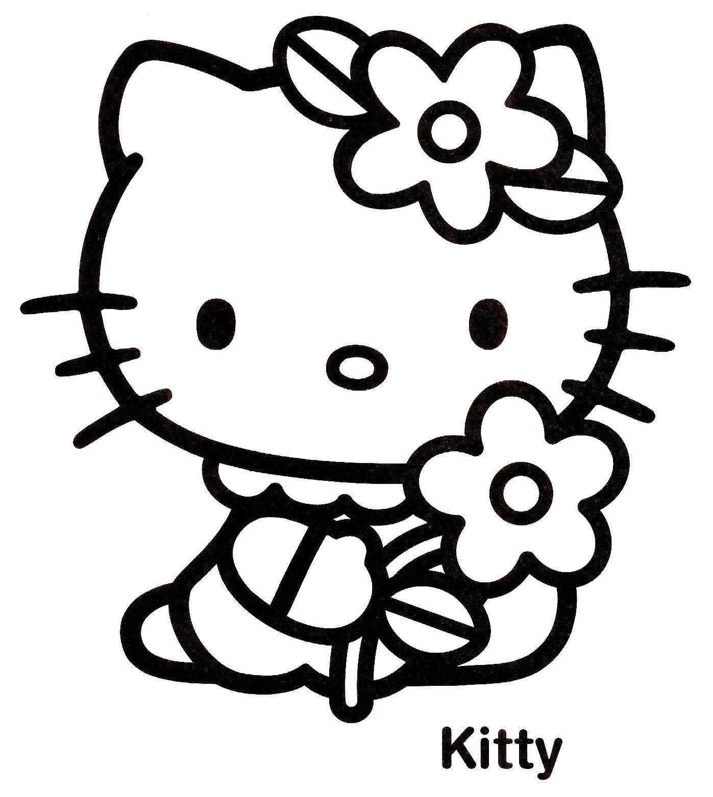 143 Dessins De Coloriage Hello Kitty À Imprimer dedans Coloriage Hello Kitty Coeur