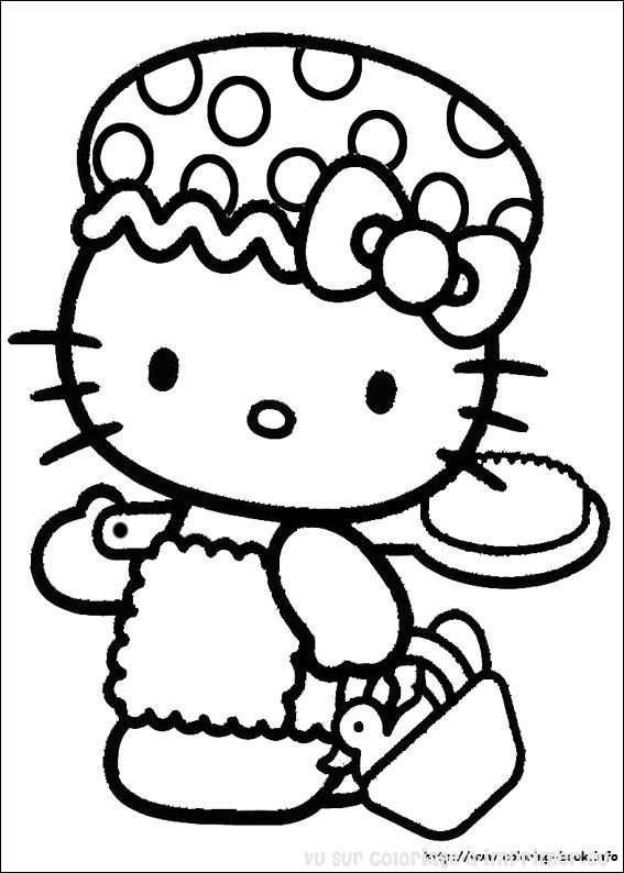 143 Dessins De Coloriage Hello Kitty À Imprimer tout Des Coloriages