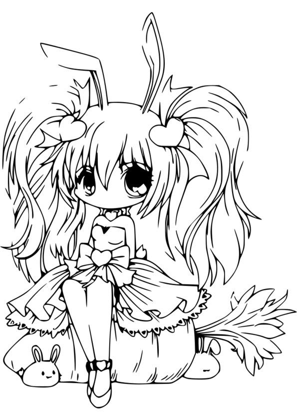 144 Dessins De Coloriage Manga À Imprimer à Coloriage Manga A Imprimer