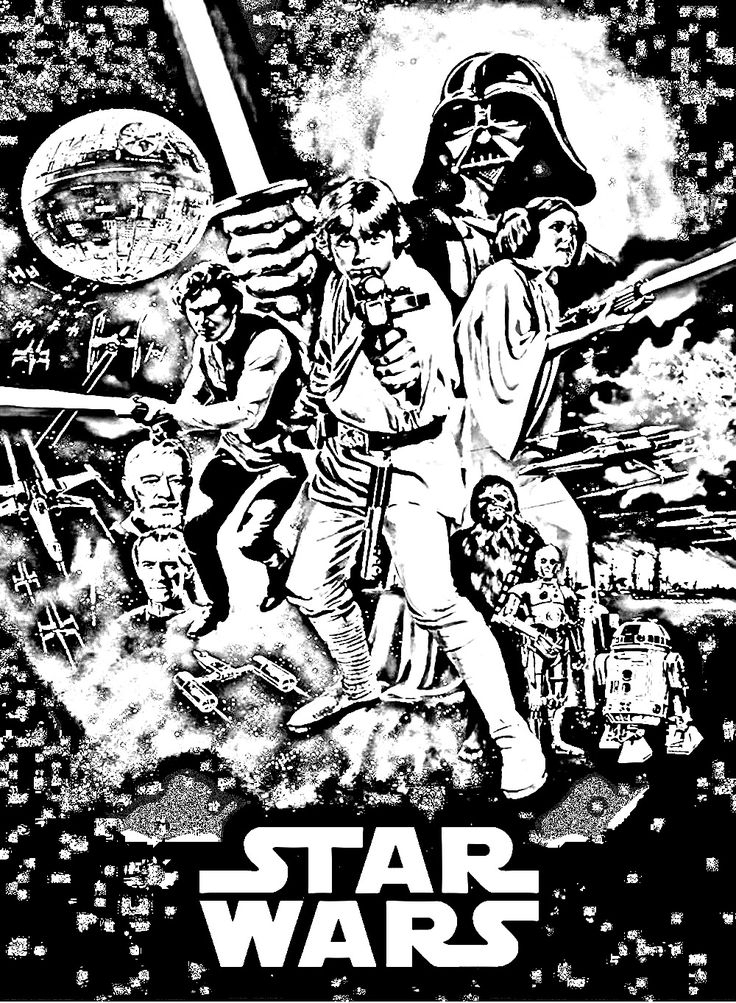 147 Best Coloriage Star Wars Images On Pinterest encequiconcerne Coloriage Star Wars A Imprimer
