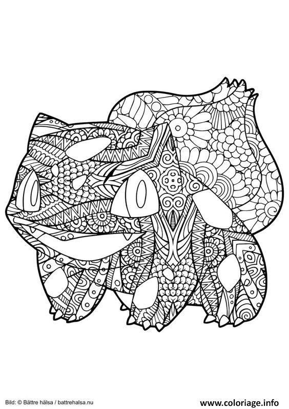 1496423644Mandala-Pokemon-Bulbizarre-Bulbasaur (564 destiné Dessin A Imprimer Pok?Mon Lougaroc Diurne