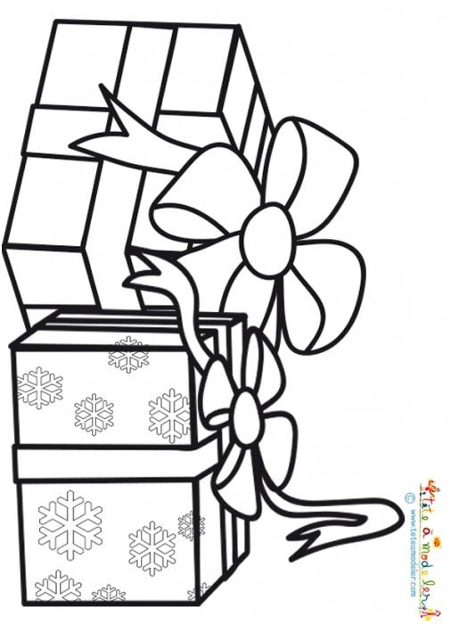 15 Magnifique Coloriage De Cadeau De Noel Gallery - Coloriage destiné Coloriage Cadeau De Noel
