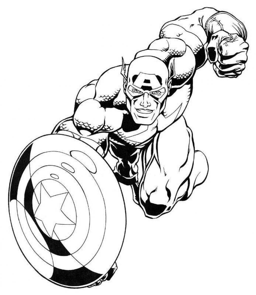 156 Dessins De Coloriage Captain America À Imprimer Sur dedans Coloriage Captain America