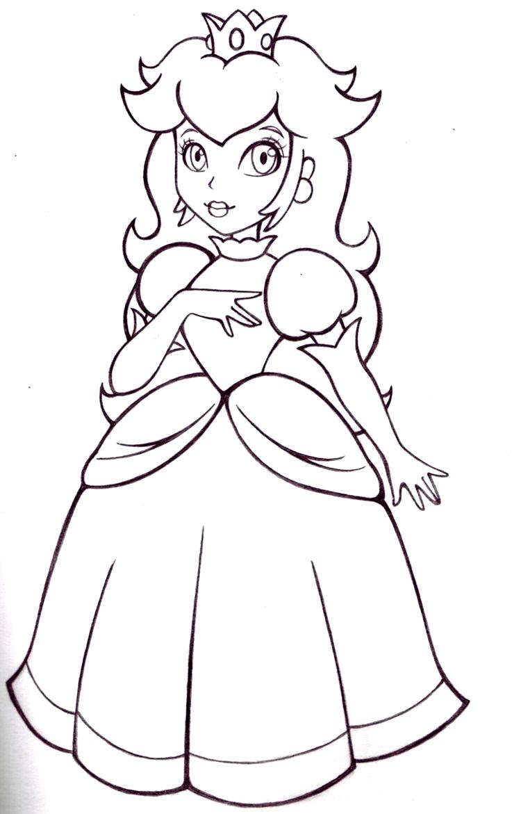 16 Dessins De Coloriage Princesse Peach À Imprimer tout Dessin De Princesse À Colorier