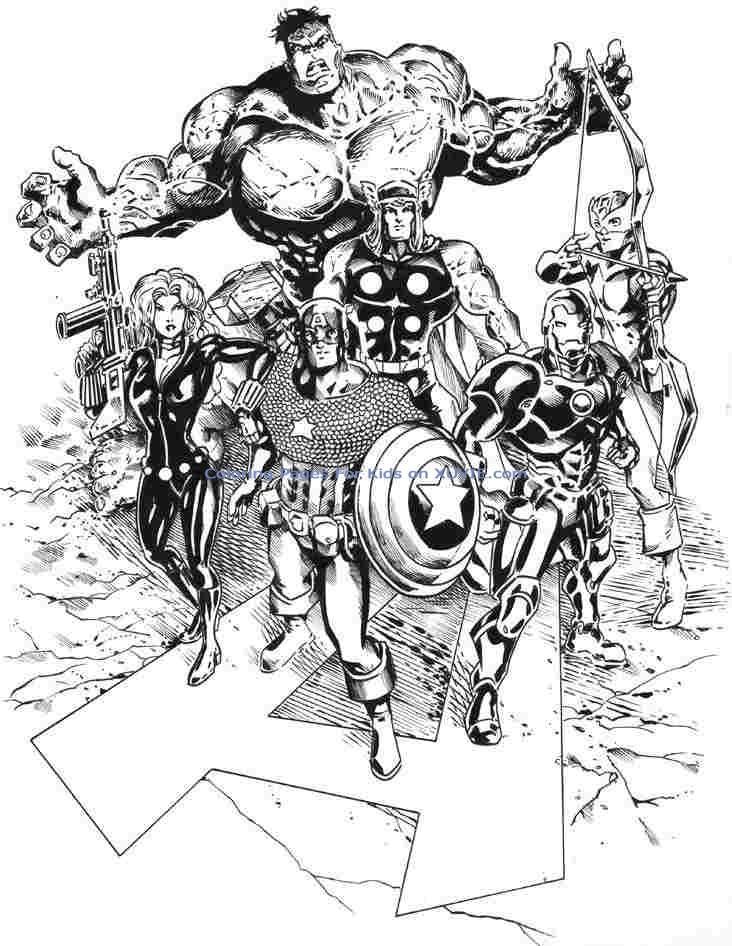 160 Dessins De Coloriage Avengers À Imprimer Sur Laguerche intérieur Dessin Des Avengers