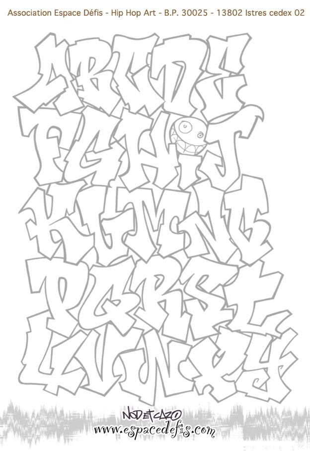 17 Dessins De Coloriage Prénom En Tag À Imprimer serapportantà Coloriage Tag Graffiti
