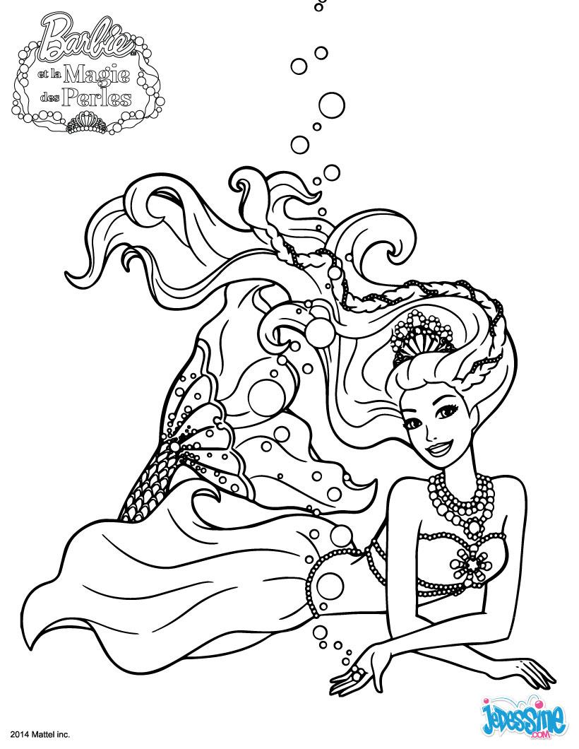 17 Dessins De Coloriage Sirène Barbie À Imprimer destiné Coloriage De Sirène A Imprimer
