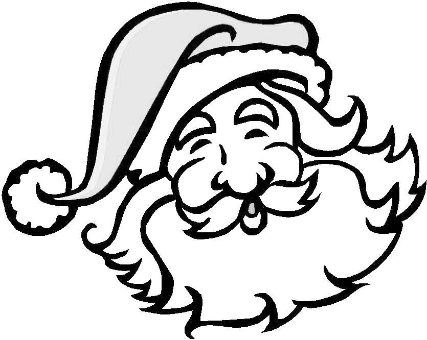 17 Dessins De Coloriage Tête De Père Noël À Imprimer tout Tete De Pere Noel