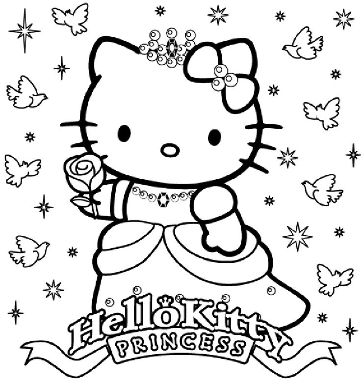 19 Best Free Printable Hello Kitty Coloring Pages Images à Coloriage Happy Color