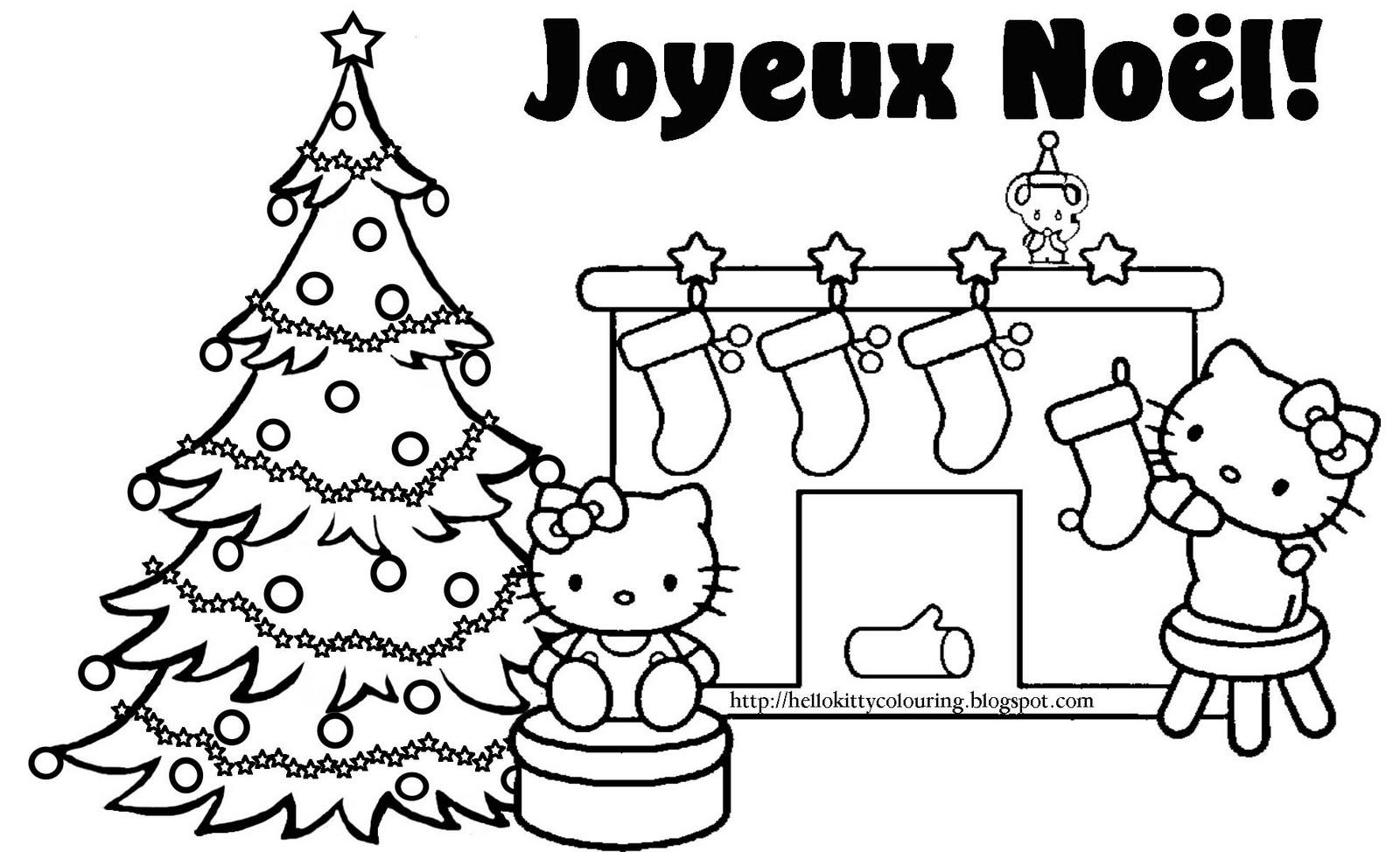 19 Dessins De Coloriage Hello Kitty Noel À Imprimer concernant Coloriage A Imprimer Hello Kitty