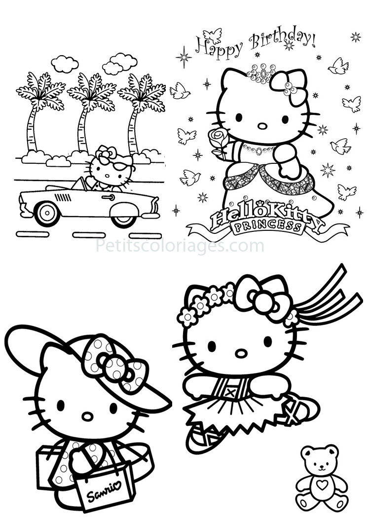 19 Dessins De Coloriage Hello Kitty Princesse À Imprimer encequiconcerne Coloriage À Imprimer Hello Kitty Sirène