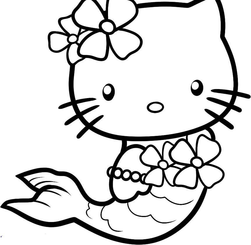 19 Dessins De Coloriage Hello Kitty Sirene À Imprimer dedans Coloriage A Imprimer Hello Kitty