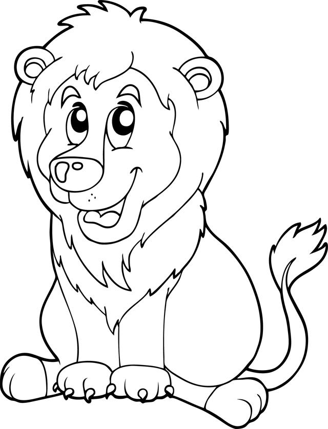 19 Dessins De Coloriage Lionceau À Imprimer intérieur Lionceau Dessin