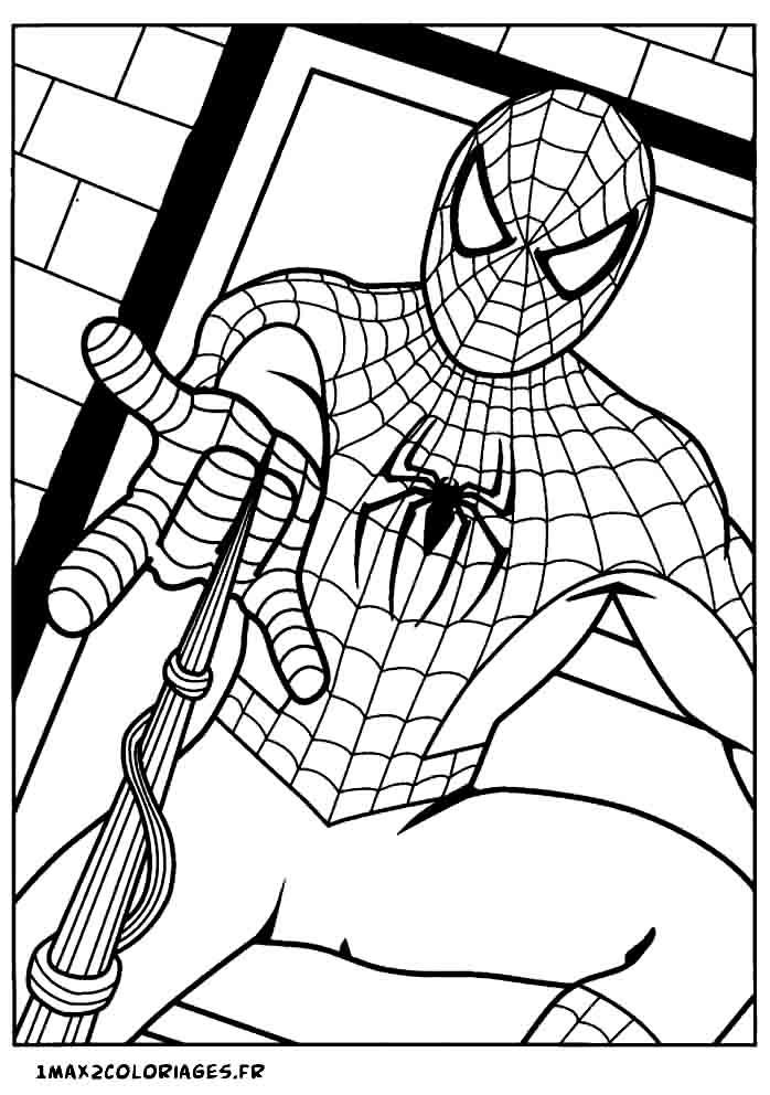 19 Dessins De Coloriage Spiderman Noir À Imprimer intérieur Coloriage De Spiderman Noir