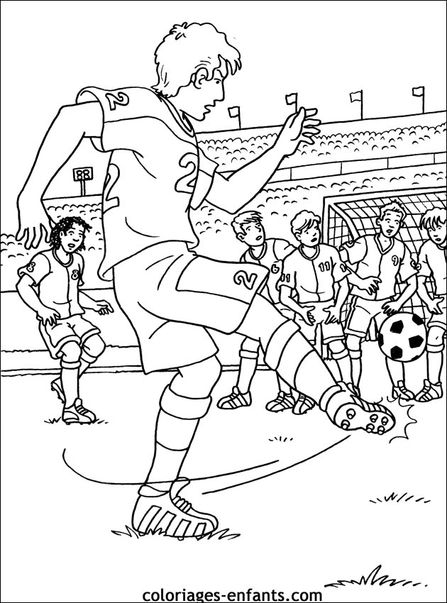 19 Dessins De Coloriage Sports Football À Imprimer À Imprimer pour Coloriage Foot