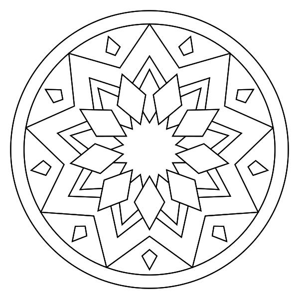 196 Dibujos De Mandalas Para Colorear Fáciles Y Difíciles concernant Mandala Facile A Dessiner