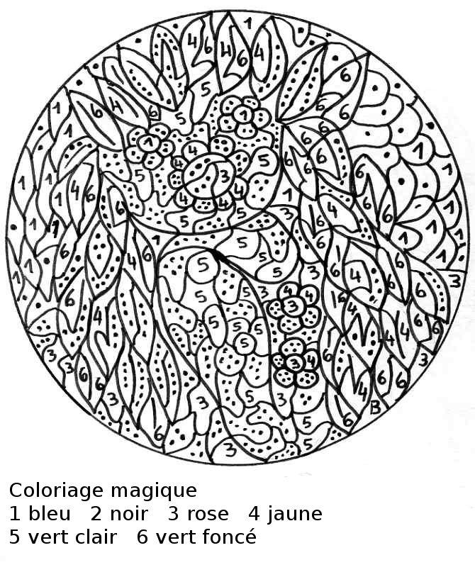 20 Dessins De Coloriage Magique Cm2 À Imprimer intérieur Coloriage Numéroté À Imprimer