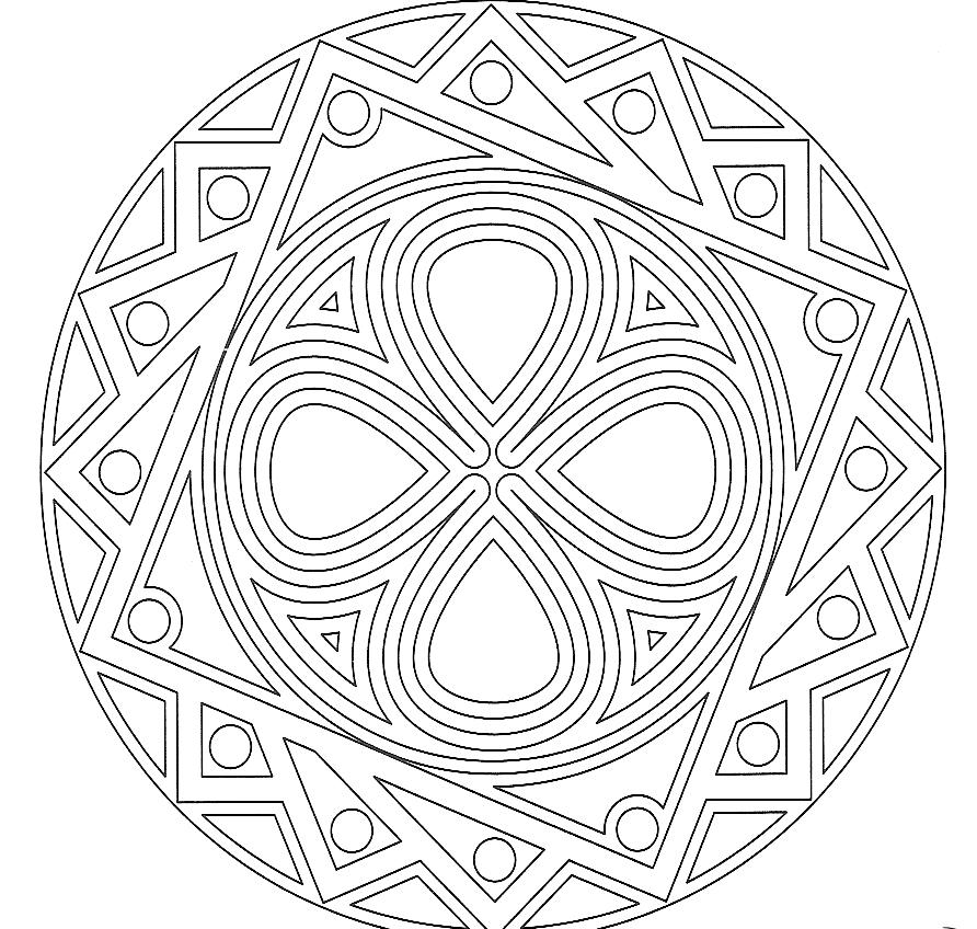 20 Dessins De Coloriage Mandala Adulte À Imprimer tout Mandala À Colorier En Ligne