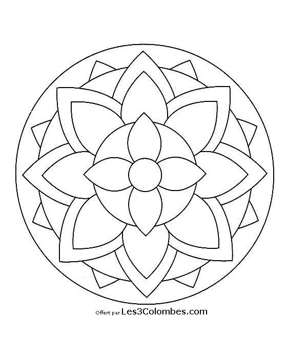 20 Dessins De Coloriage Mandala En Ligne À Imprimer pour Mandala À Colorier En Ligne
