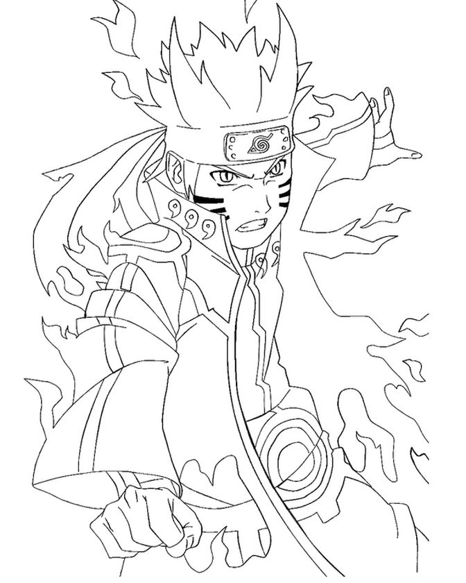 20+ Free Printable Naruto Coloring Pages intérieur Naruto Shippuden Coloring Pages