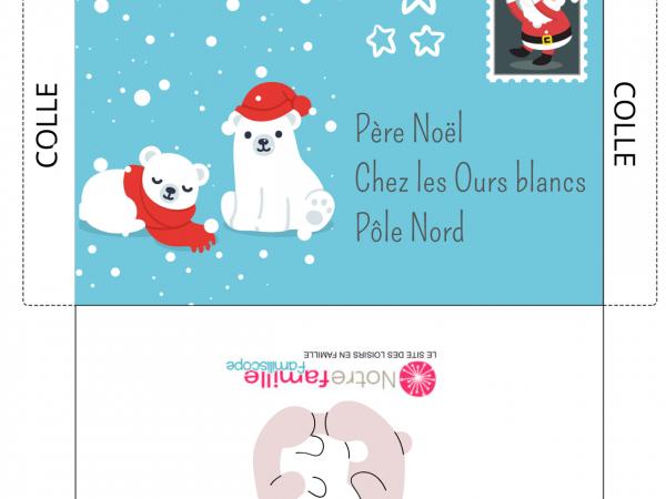 20 Modèles De Lettres Au Père Noël À Imprimer : Enveloppes tout Enveloppe Pere Noel