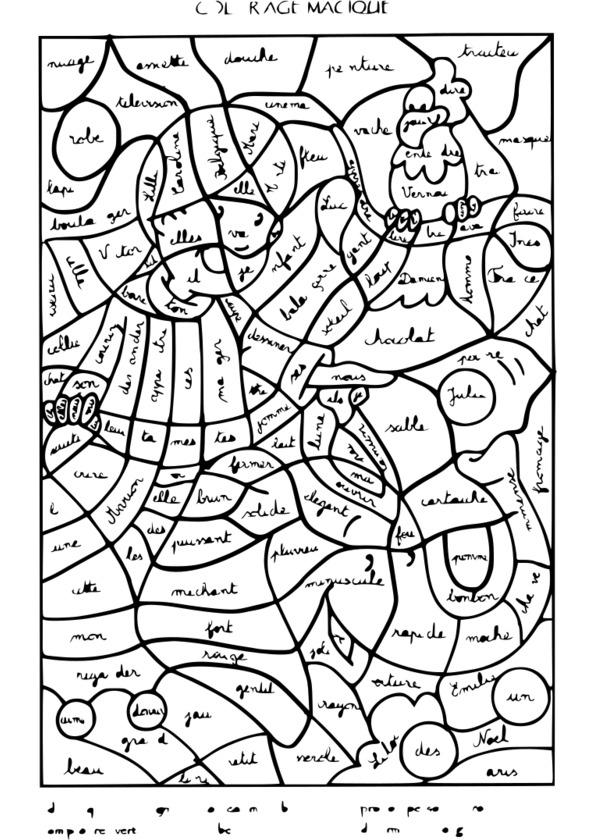 205 Dessins De Coloriage Magique À Imprimer concernant Coloriage Numéroté À Imprimer