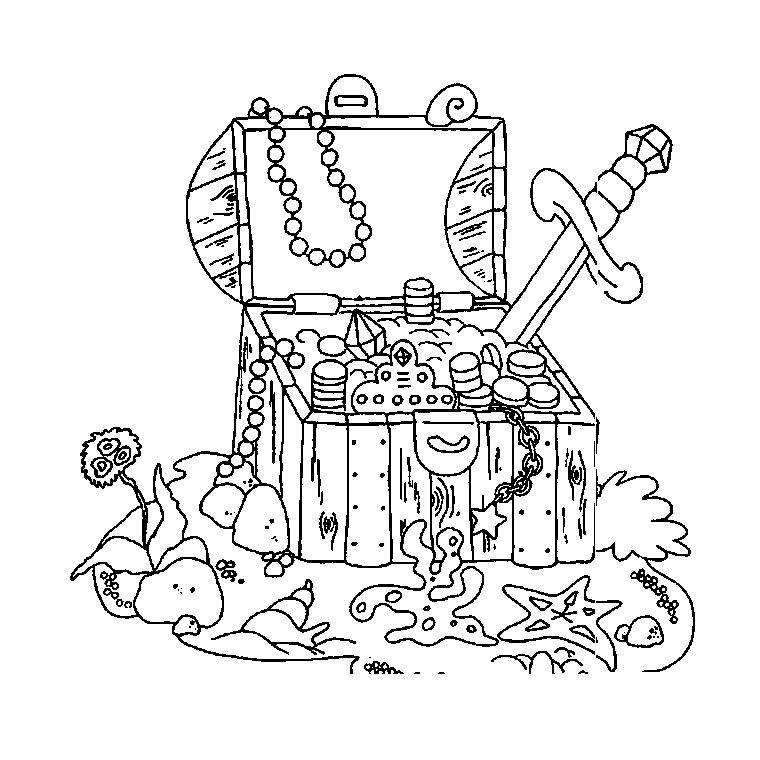 209 Dessins De Coloriage Pirate À Imprimer Sur Laguerche dedans Dessin Coffre Pirate