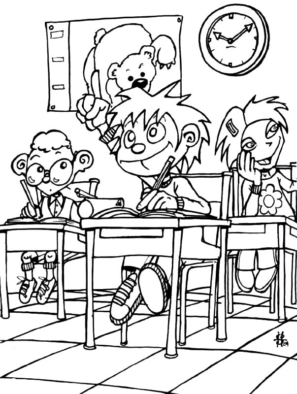 234 Best Coloriage A L'Ecole, C'Est La Rentree Images On serapportantà Coloriage Rentr?E