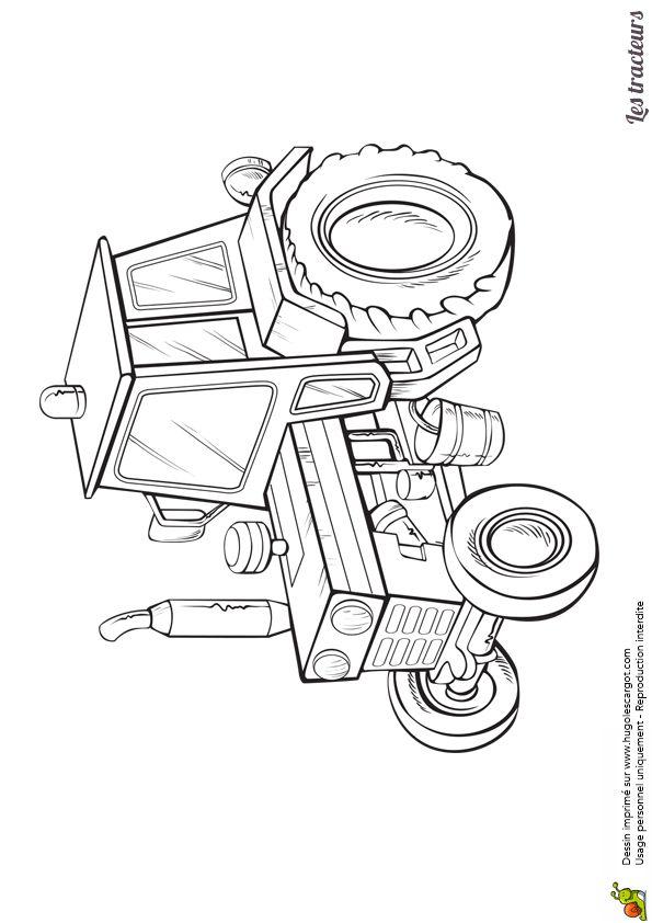 24 Best Coloriages De Tracteurs Et Monster Truck Images On tout Dessin De Tracteur A Colorier