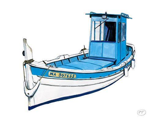 24X30 Pointu8 | Barque, Marseillaise Et Dessin intérieur Dessiner Un Bateau De Peche