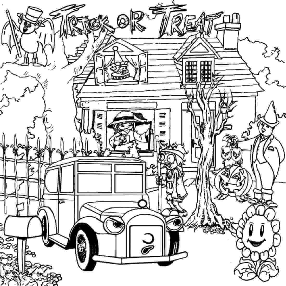 25 Free Printable Haunted House Coloring Pages For Kids à Trick Or Treat Coloring Book: Trick Or