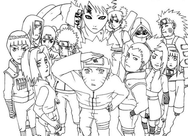25 Picture Free Printable Naruto Coloring Pages | Fox pour Naruto Shipuden Coloriage