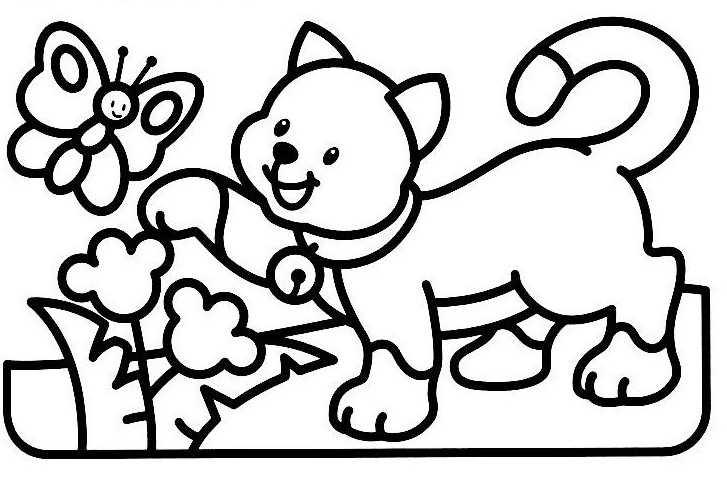 260 Dibujos De Gatos Para Colorear | Oh Kids | Page 13 intérieur Coloriage Enfant 2 Ans
