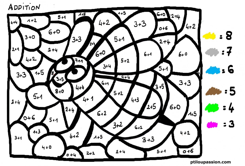 27 Dessins De Coloriage Magique Addition À Imprimer concernant Coloriage Avec Calcul