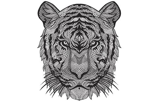 27 Mandalas Y Dibujos De Lobos Para Colorear   Mandalasweb concernant Mandalas De Tigres