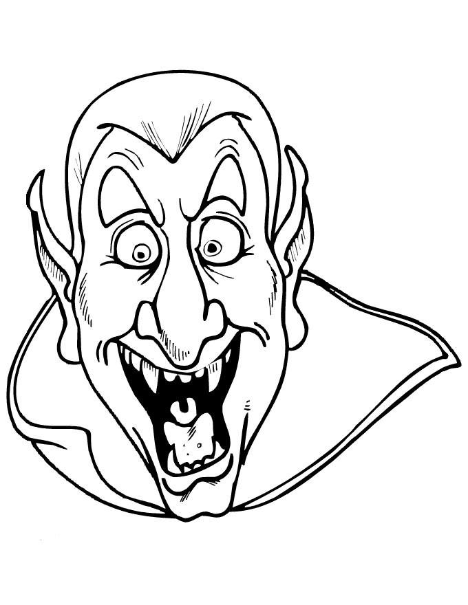 28 Dessins De Coloriage Vampire À Imprimer encequiconcerne Coloriages Halloween À Imprimer Gratuitement