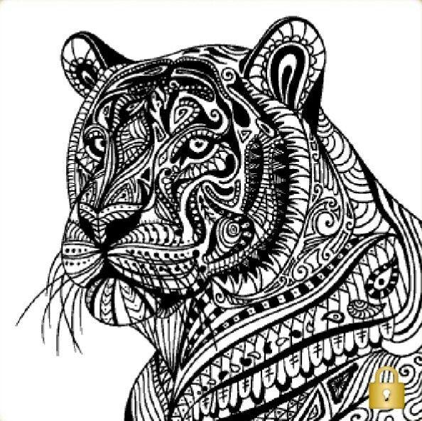 29052016   Mandalas Animales, Mandalas Para Colorear concernant Mandalas De Tigres