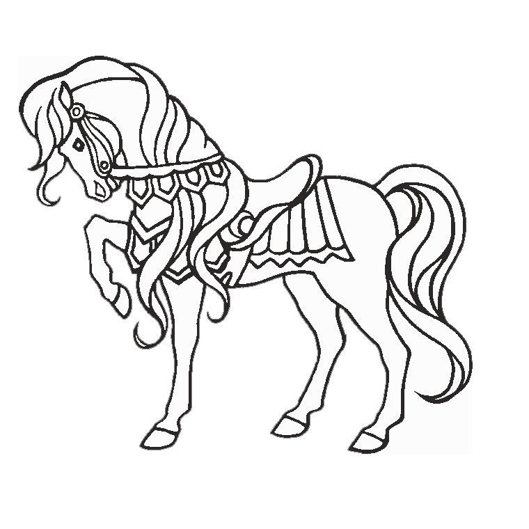 296 Dessins De Coloriage Cheval À Imprimer Sur Laguerche avec Coloriage Magique De Cheval