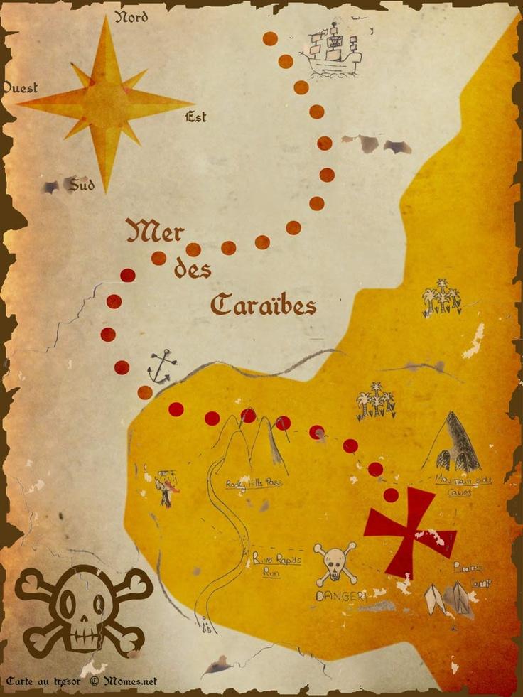 30 Best Carte Aux Trésors Pirates Images On Pinterest pour Chasse Au Tresors Theme Des Pirates