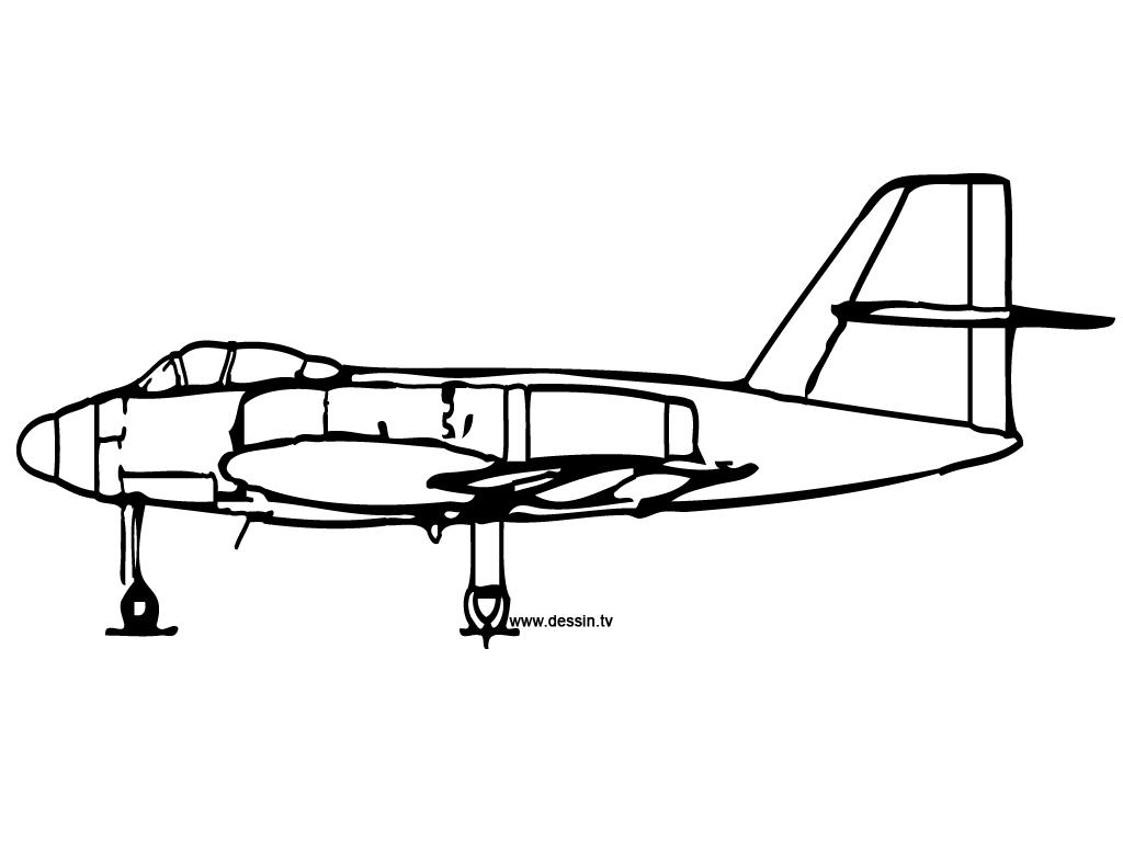 30 Dessins De Coloriage Avion De Chasse À Imprimer Sur destiné Dessin Avion De Chasse