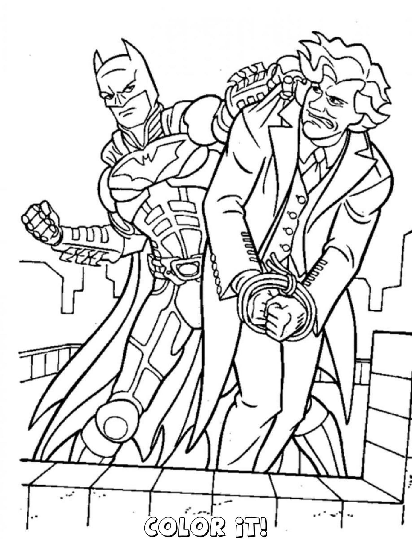 310 Dessins De Coloriage Batman À Imprimer Sur Laguerche tout Coloriage Batman