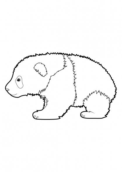33 Dessins De Coloriage Panda À Imprimer tout Panda A Colorier
