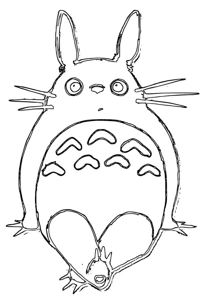 34 Best Coloring Pages Images On Pinterest | Coloring avec Coloriage Totoro A Imprimer
